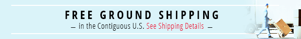 Free ground shipping in the Contiguous US