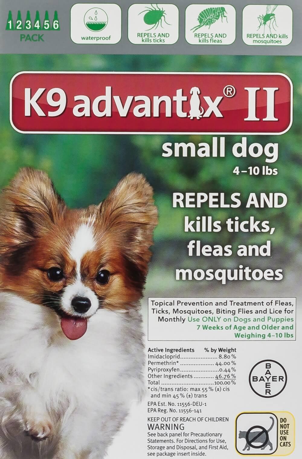 K9 Advantix Ii Small Green 4 10 Lb 6 Ct Ebay
