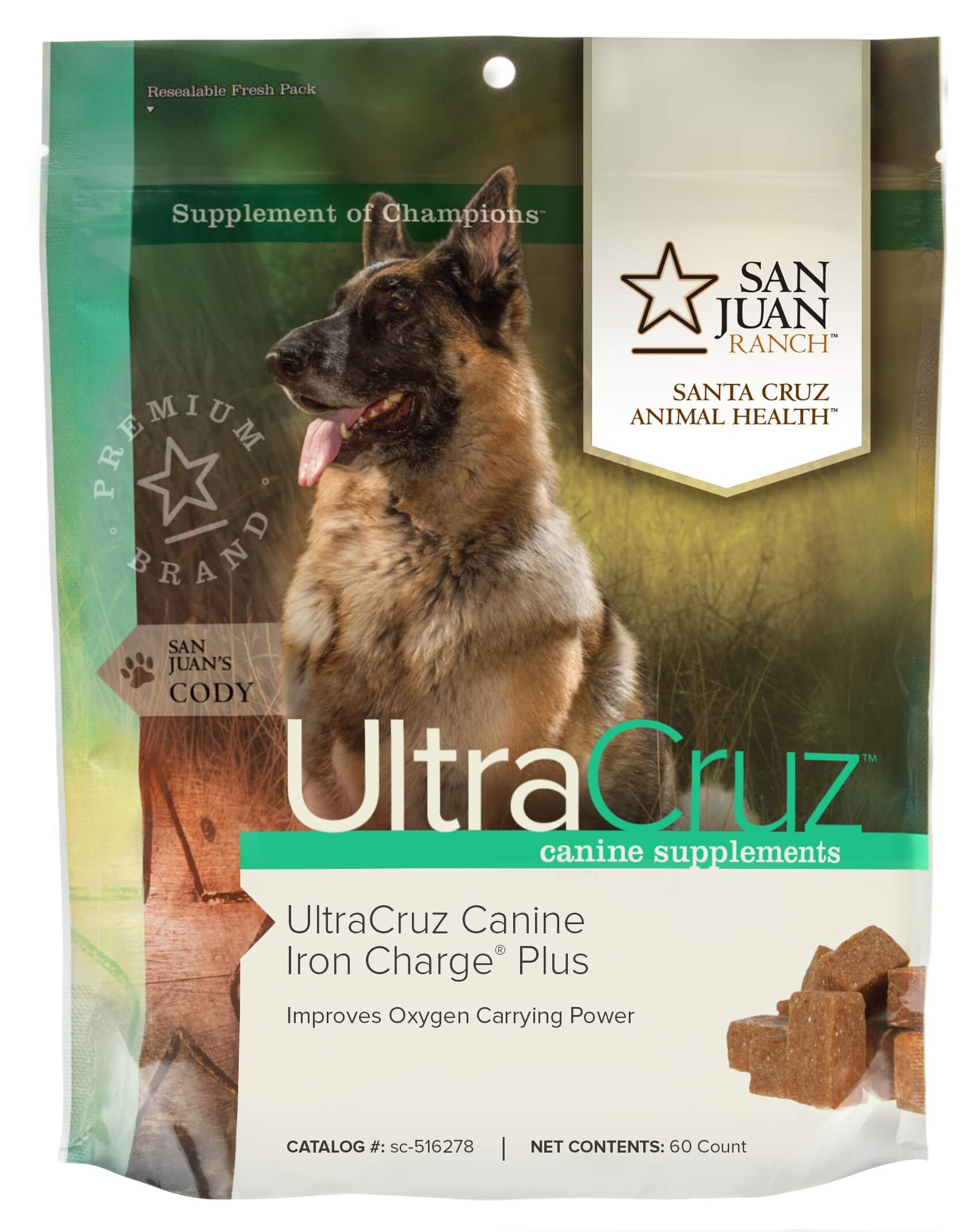 UltraCruz Canine Iron Charge Plus Supplement For Dogs, 60