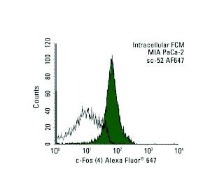 c-Fos (4) Alexa Fluor 647: sc-52 AF647. Intracellular FCM analysis...