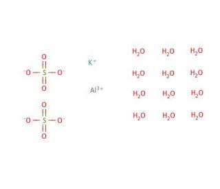 Aluminum potassium sulfate dodecahydrate | CAS 7784-24-9