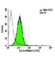 CD10 (FR4D11) FITC: sc-7632 FITC. FCM analysis of GA-10 cells....