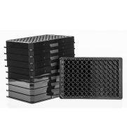 UltraCruz Plates, 96 well, black, Flat bottom, PP, 10/pk, 100/case: